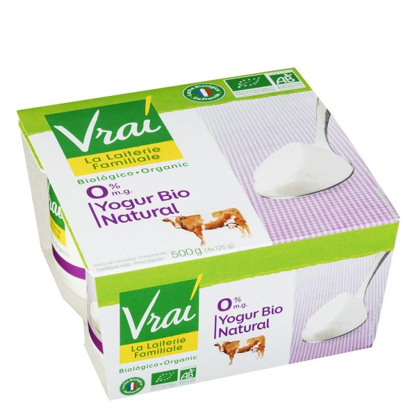 yogur natural vrai 4x125g